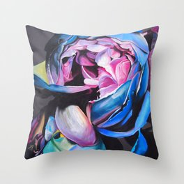 Rose chalk drawing Throw Pillow