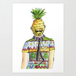 Mr. Pineapple Art Print