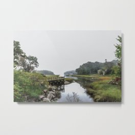 Early Autumn Fog on the Little River Metal Print