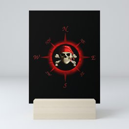 Pirate Compass Rose Mini Art Print