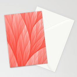 Reef Coral Living Color of the Year 2019 Abstract Pattern Fractal Fine Art Stationery Cards
