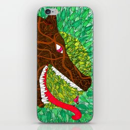 Embroided Wolf iPhone Skin