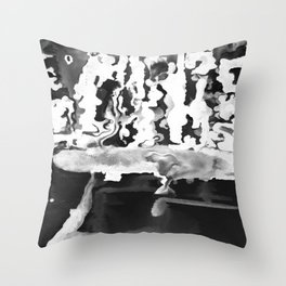 Dripping Tease in White and Black Throw Pillow
