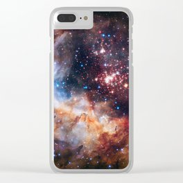Space Nebula Galaxy Stars | Comforter Clear iPhone Case