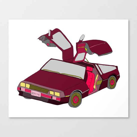 cool girls like flying cars Canvas Print