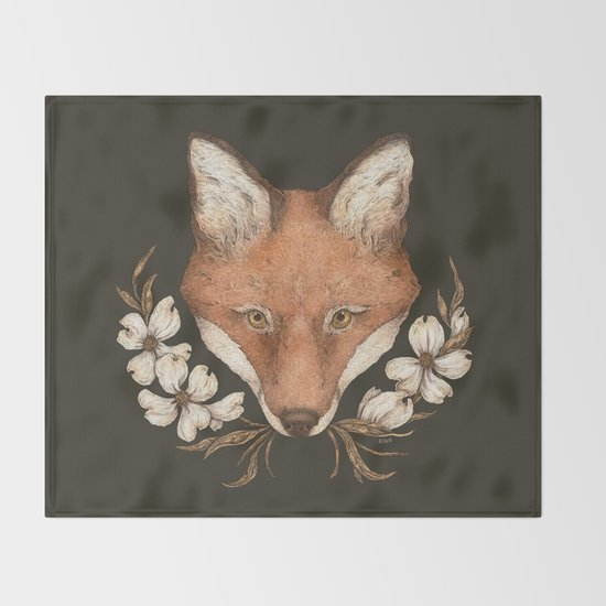The Fox and Dogwoods by jessicaroux
