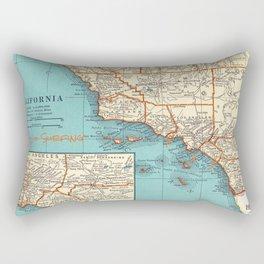 So Cal Surf Map Rectangular Pillow