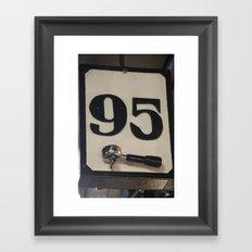 95 Coffee Framed Art Print