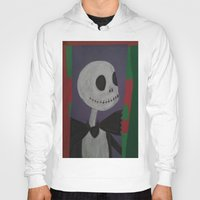 nightmare before christmas Hoodies featuring JACK SKELLINGTON/NIGHTMARE BEFORE CHRISTMAS by Kathead Tarot/David Rivera