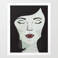 marceline Art Prints featuring Marceline by Grace Elizabeth McConnell