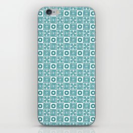 Lines and shapes - Dark Teal iPhone Skin