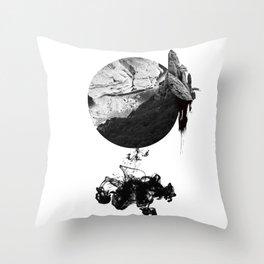 & Black+White Series: Cracked Earth Throw Pillow