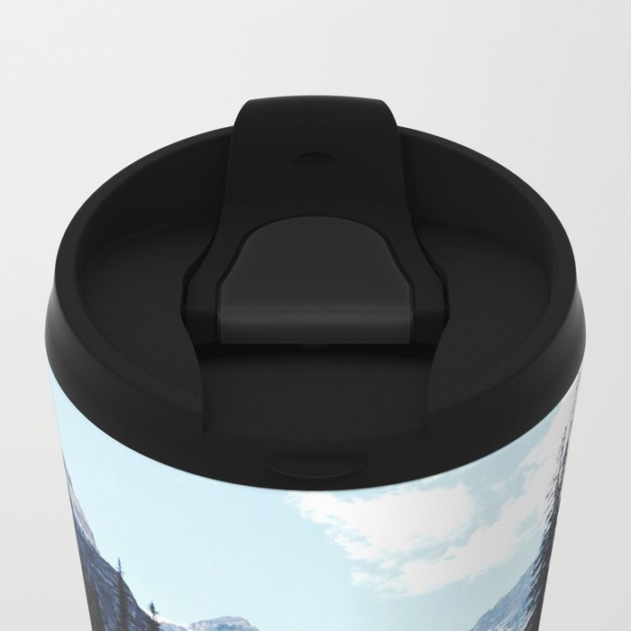 Glacier Creek, Moraine lake Banff Metal Travel Mug