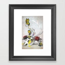 CMYsKull Framed Art Print