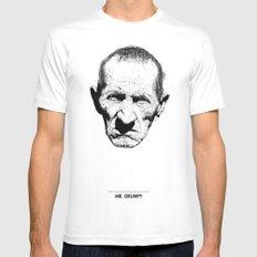 Mr. Grumpy Mens Fitted Tee White MEDIUM