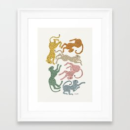 Rainbow Cheetah Framed Art Print