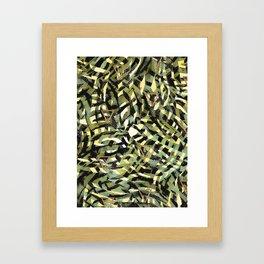 Tropical leaf and geometric Framed Art Print