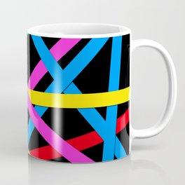 Day-Glo Stripes Coffee Mug