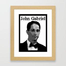 John Gabriel Tribute (ID534) Framed Art Print