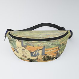 Vintage Litho Travel ad Assisi Italy Fanny Pack
