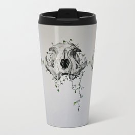 Animal Skull With Vines Travel Mug