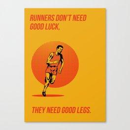 Runner Running Marathon Poster Canvas Print