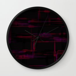 Purple Passion Plumbing Abstract Wall Clock