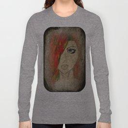 Grunge Red Long Sleeve T-shirt