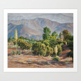 Blue Desert Haze of Southern California Mountains Art Print
