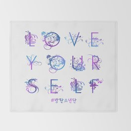 Kpop BTS: LOVE YOURSELF! Throw Blanket
