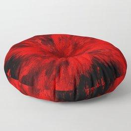 Fire Behind Glass (Red series #11) Floor Pillow