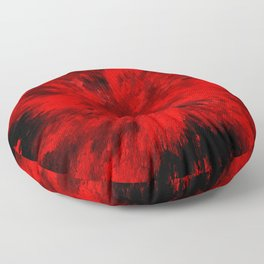 Fire Behind Glass (Red series #11) Floor Pillow