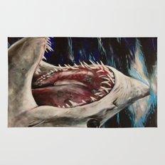 Mako Shark of Dark Waters Rug