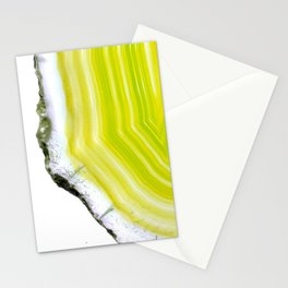 Lemon/Lime agate Stationery Cards