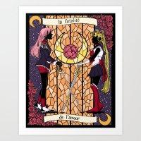 utena Art Prints featuring Utena   Moon by andrea cecelia