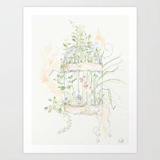 Caged Art Print