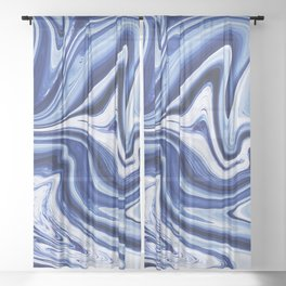 Melted Blueberry Sheer Curtain