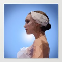 swan queen Canvas Prints featuring Swan Queen by Apt108