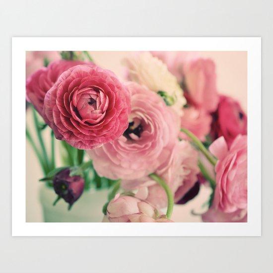 Ranunculus in Pink Art Print