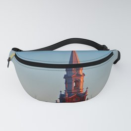 Church at sunset Fanny Pack