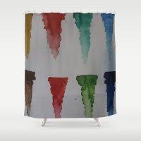 watercolour Shower Curtains featuring Watercolour by Crimson-daisies