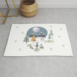 Camp Sleepy Moon (Large Print) Rug