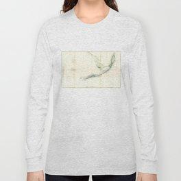 Vintage Map of The Florida Keys (1859) Long Sleeve T-shirt