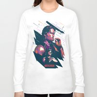 metal gear Long Sleeve T-shirts featuring ESCAPE FROM METAL GEAR by mergedvisible