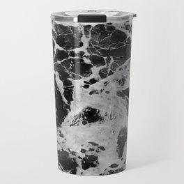 Black and White Waves Travel Mug