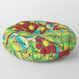 Foliage and flowers Floor Pillow