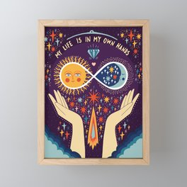 My life is in my own hands Framed Mini Art Print