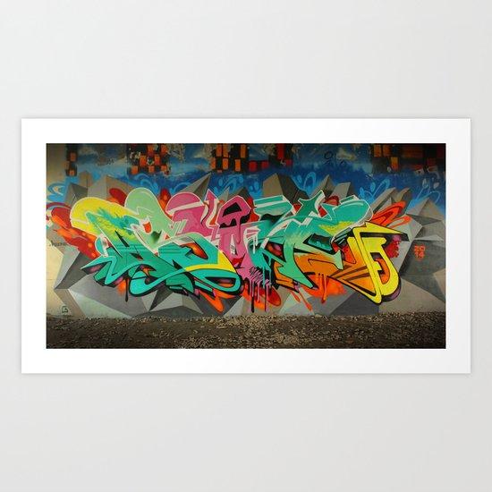 AS ONE GRAF PIECE 2 Art Print