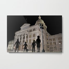 Texas Capitol At Night Metal Print
