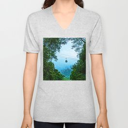 Travelling the mist Unisex V-Neck